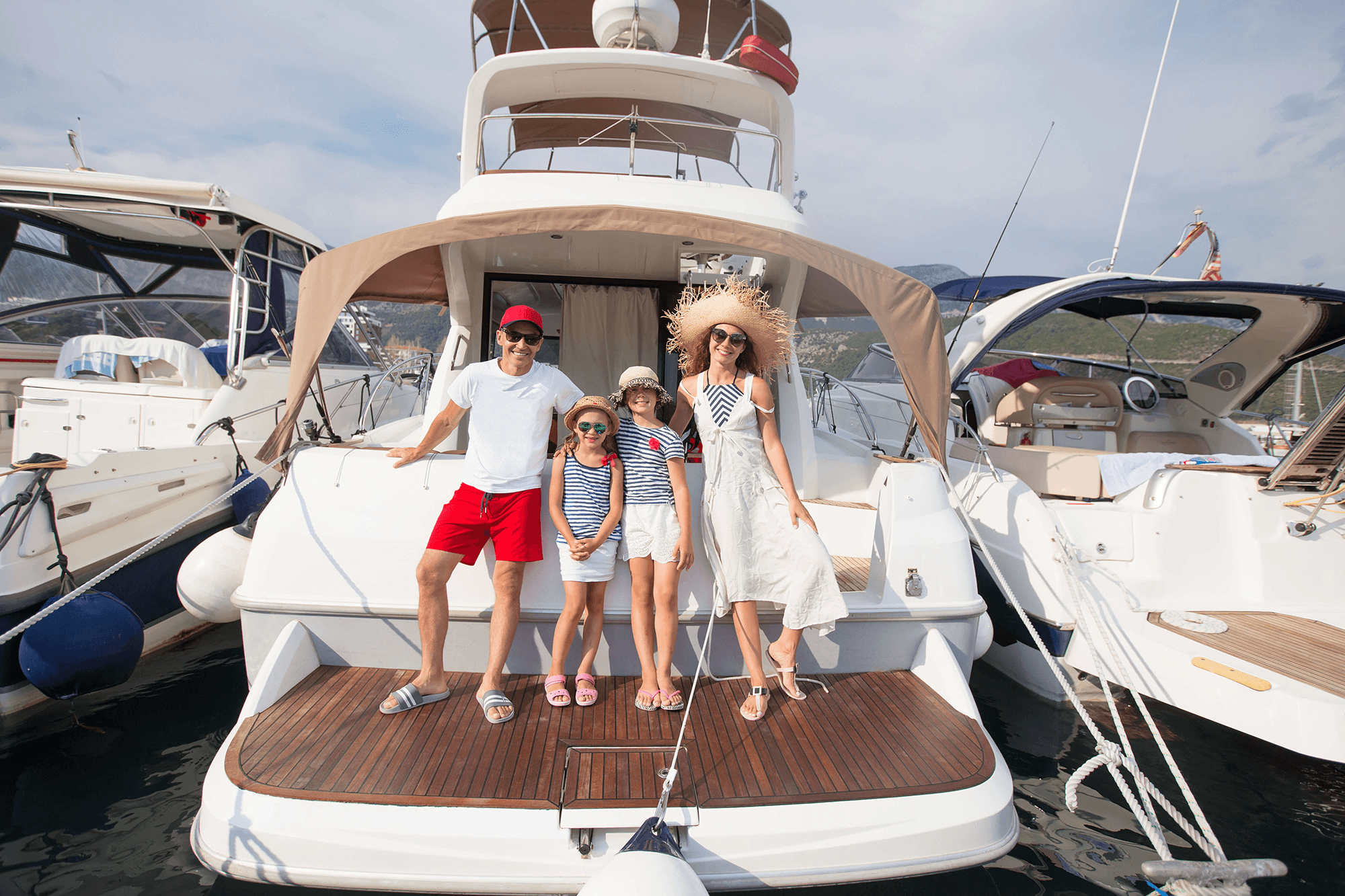 Family Vacations with a private boat